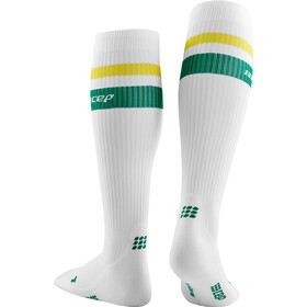 cep 80´s Kompressions Socken Herren white/green&yellow